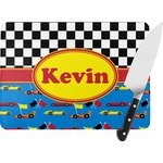 Racing Car Rectangular Glass Cutting Board (Personalized)
