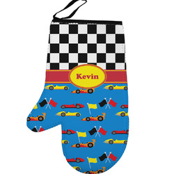 Racing Car Left Oven Mitt (Personalized)