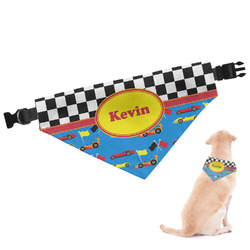 Racing Car Dog Bandana - Large (Personalized)