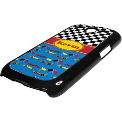 Racing Car Plastic Samsung Galaxy 3 Phone Case (Personalized)