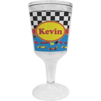 Racing Car Wine Tumbler - 11 oz Plastic (Personalized)