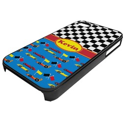 Racing Car Plastic 4/4S iPhone Case (Personalized)