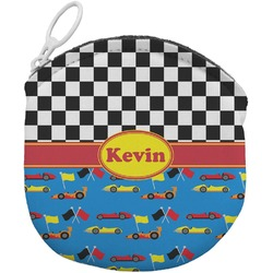Racing Car Round Coin Purse (Personalized)