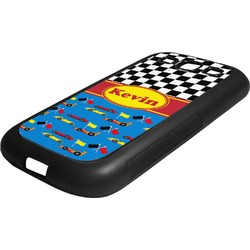 Racing Car Rubber Samsung Galaxy 3 Phone Case (Personalized)