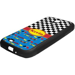 Racing Car Rubber Samsung Galaxy 4 Phone Case (Personalized)