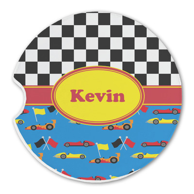 Racing Car Sandstone Car Coasters (Personalized)