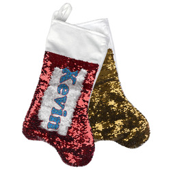 Racing Car Reversible Sequin Stocking (Personalized)