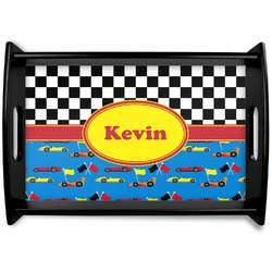 Racing Car Black Wooden Tray (Personalized)