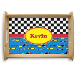 Racing Car Natural Wooden Tray - Small (Personalized)
