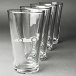 Racing Car Beer Glasses (Set of 4) (Personalized)