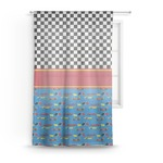 Racing Car Sheer Curtains (Personalized)