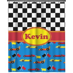 """Racing Car Extra Long Shower Curtain - 70""""x84"""" (Personalized)"""