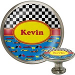 Racing Car Cabinet Knob (Silver) (Personalized)