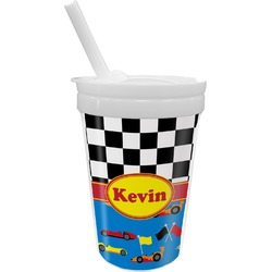 Racing Car Sippy Cup with Straw (Personalized)