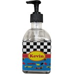 Racing Car Soap/Lotion Dispenser (Glass) (Personalized)