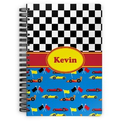 Racing Car Spiral Bound Notebook (Personalized)