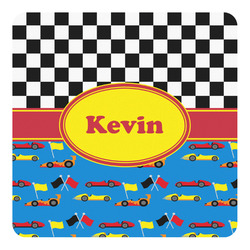 Racing Car Square Decal (Personalized)