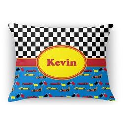 Racing Car Rectangular Throw Pillow Case (Personalized)