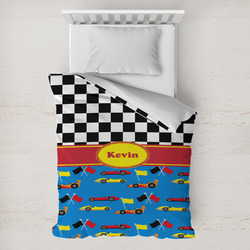 Racing Car Toddler Duvet Cover w/ Name or Text
