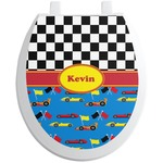 Racing Car Toilet Seat Decal (Personalized)