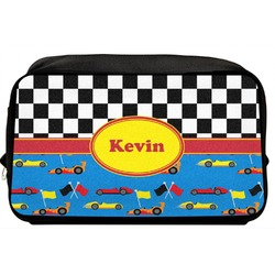 Racing Car Toiletry Bag / Dopp Kit (Personalized)