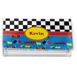 Racing Car Vinyl Checkbook Cover (Personalized)