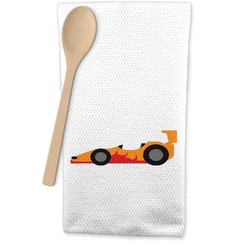 Racing Car Waffle Weave Kitchen Towel (Personalized)