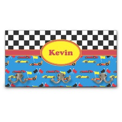 Racing Car Wall Mounted Coat Rack (Personalized)