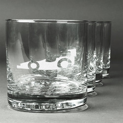Racing Car Whiskey Glasses (Set of 4) (Personalized)