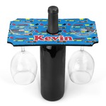Racing Car Wine Bottle & Glass Holder (Personalized)