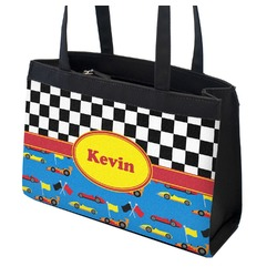 Racing Car Zippered Everyday Tote w/ Name or Text