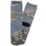Water Lilies by Claude Monet Adult Crew Socks