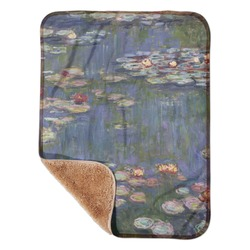 """Water Lilies by Claude Monet Sherpa Baby Blanket 30"""" x 40"""""""