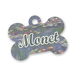 Water Lilies by Claude Monet Bone Shaped Dog ID Tag