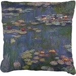 Water Lilies by Claude Monet Faux-Linen Throw Pillow
