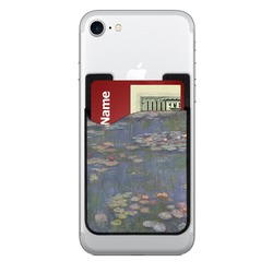 Water Lilies by Claude Monet 2-in-1 Cell Phone Credit Card Holder & Screen Cleaner