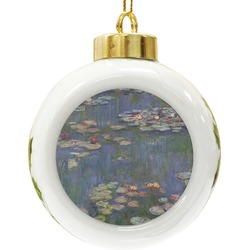 Water Lilies by Claude Monet Ceramic Ball Ornament