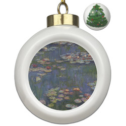 Water Lilies by Claude Monet Ceramic Ball Ornament - Christmas Tree