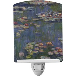 Water Lilies by Claude Monet Ceramic Night Light