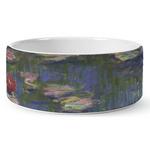 Water Lilies by Claude Monet Ceramic Pet Bowl