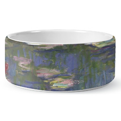 Water Lilies by Claude Monet Ceramic Dog Bowl
