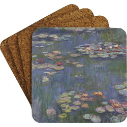 Water Lilies by Claude Monet Coaster Set w/ Stand