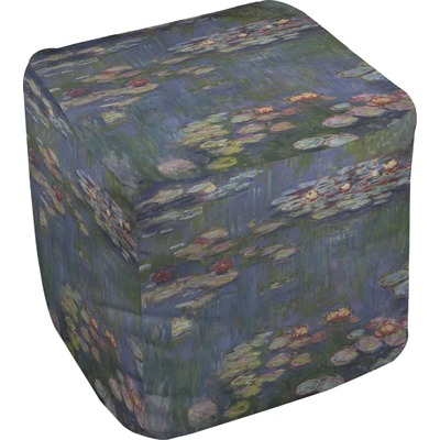 Water Lilies by Claude Monet Cube Pouf Ottoman
