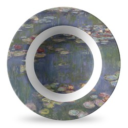 Water Lilies by Claude Monet Plastic Bowl - Microwave Safe - Composite Polymer