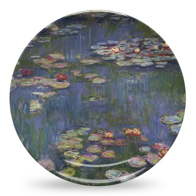 water lilies by claude monet microwave safe plastic plate composite polymer youcustomizeit. Black Bedroom Furniture Sets. Home Design Ideas
