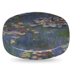 Water Lilies by Claude Monet Plastic Platter - Microwave & Oven Safe Composite Polymer