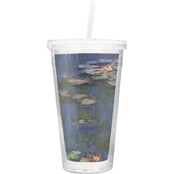 Water Lilies by Claude Monet Double Wall Tumbler with Straw
