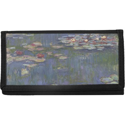 Water Lilies by Claude Monet Canvas Checkbook Cover
