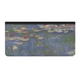 Water Lilies by Claude Monet Genuine Leather Checkbook Cover