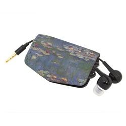 Water Lilies by Claude Monet Genuine Leather Cord Wrap